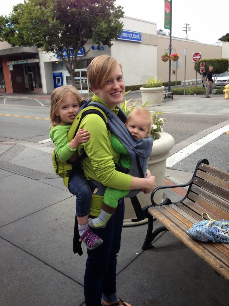 Oh, just taking 60 lbs of baby for a walk.